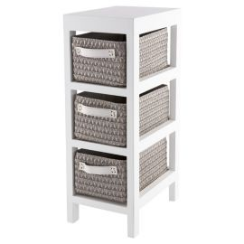 buy tesco 3 drawer caddy grey from our bathroom wall cabinets range