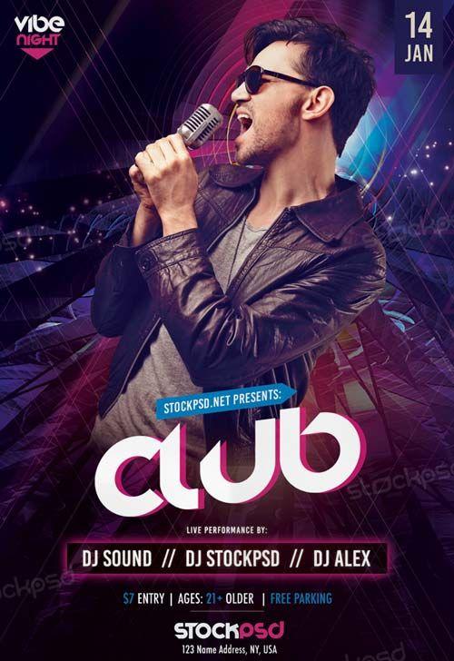 Club Vibe Night Free PSD Flyer Template - http://freepsdflyer.com/club-vibe-night-free-psd-flyer-template/ Enjoy downloading the Club Vibe Night Free PSD Flyer Template created by Stockpsd! #Club, #Concert, #Dance, #Dj, #EDM, #Electro, #Gig, #Live, #Music, #Nightclub, #Party, #Sound