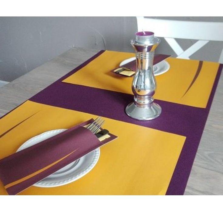 Suport Tacam Bari  Bordo servetel clasic portocaliu 8,5x20 cm /600buc.