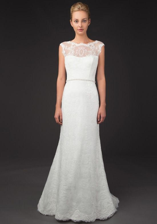 Sevina 8428 french lace gown with swarovski beaded belt for French couture dresses