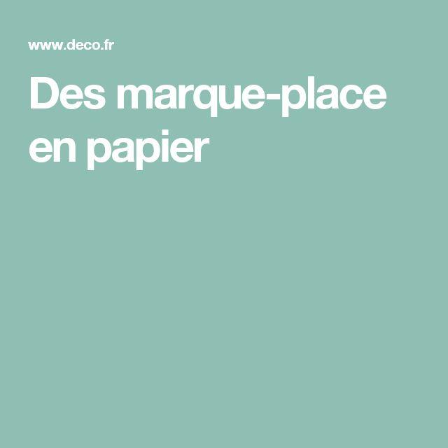 Des marque-place en papier