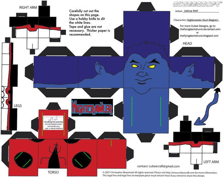 Marvel4: Nightcrawler Cubee por TheFlyingDachshund