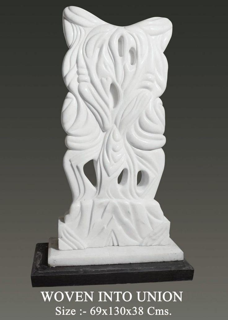 Marble Sculpture : woven into union  Created by : Neeraj Gupta Write Up by : Neeraj Gupta Medium:-marble sculpture       Size:-69x130x38cms Price on Demand