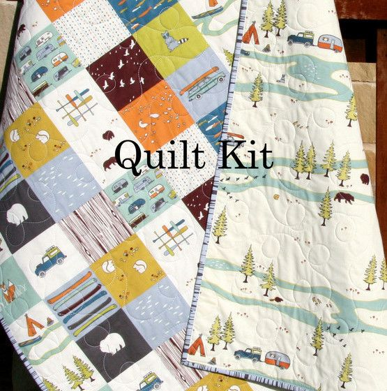 Camp Sur Quilt Kit, Panel Cheater Top Wholecloth Simple Quick - Sunnyside Designs - 1