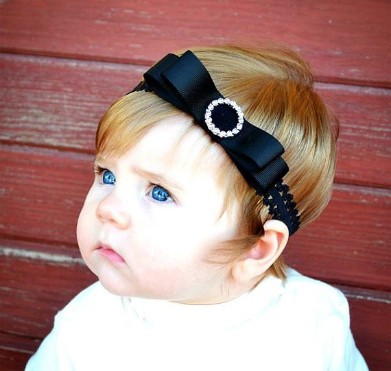Lace Headband / Newborn Headbands / Baby Headbands / Infant Headbands / Photo Prop / Bow Tie Lace Headband on Etsy, $6.00