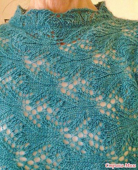 Красивый узор спицами для пуловера