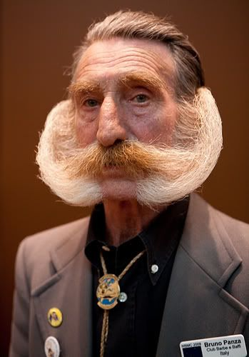I know men want to get creative with their whiskers, but..... no, not this.