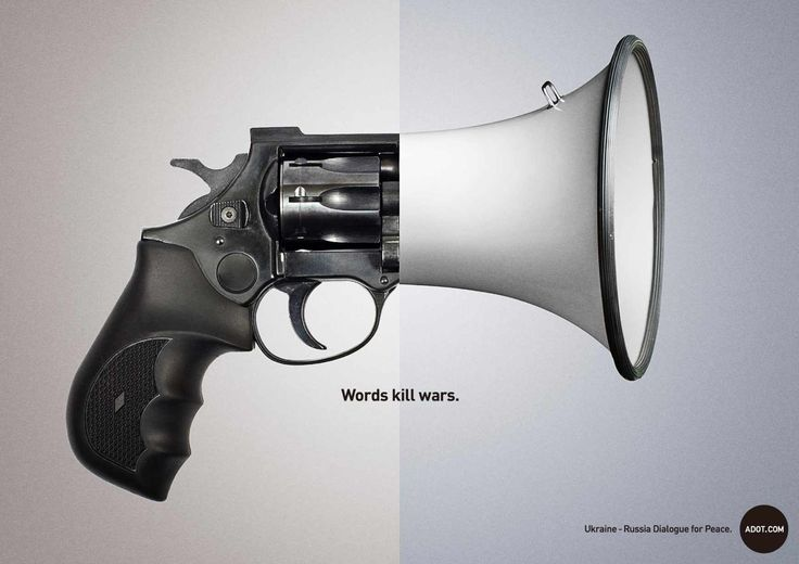"Adot: ""Words kill wars""  #Advertising #Print > AdsoftheWorld 