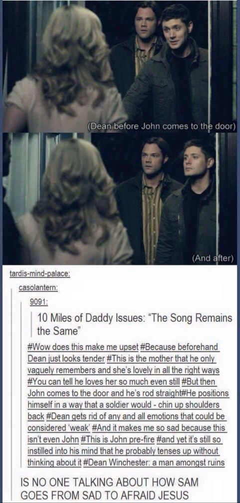 I DON'T CARE IF I ALREADY PINNED THIS I WILL DO IT AGAIN BECAUSE OF SAM AND DEAN