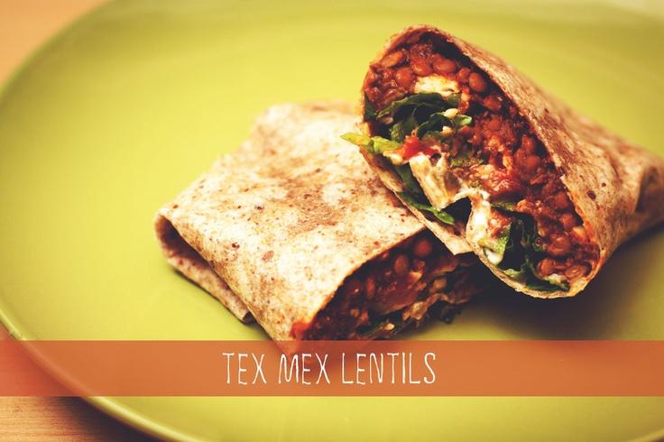 Tex Mex Lentils for Tacos/Burritos!