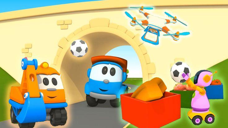 Leo e Scoop non costruscono solo grandi veicoli... - cartoni animati per bambini Il cartone animato per bambini Leo il camion curioso torna con una compilation sui lavori di casa... chi non desidera un'aspirapolvere robot??  l'aspirapolvere robot!  Ma forse la piccola ruspa Scoop #cartonianimati #bambini #costruzioni