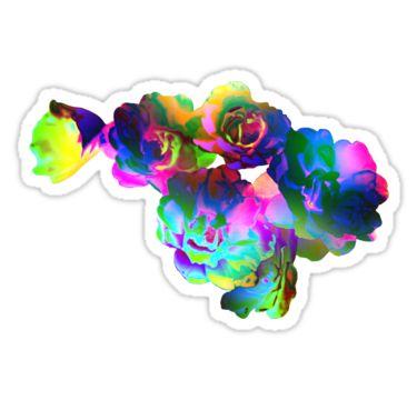 Rainbow Bouquet Sticker by StickerNuts