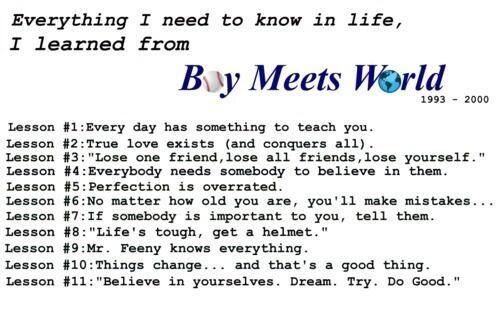 Lessons from boy meets world