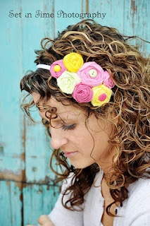 handmade rosette headband by Charm and Bloom @Nicole Novembrino Wells