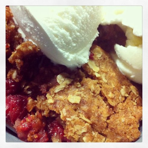 Cranberry Raspberry Apple Crisp
