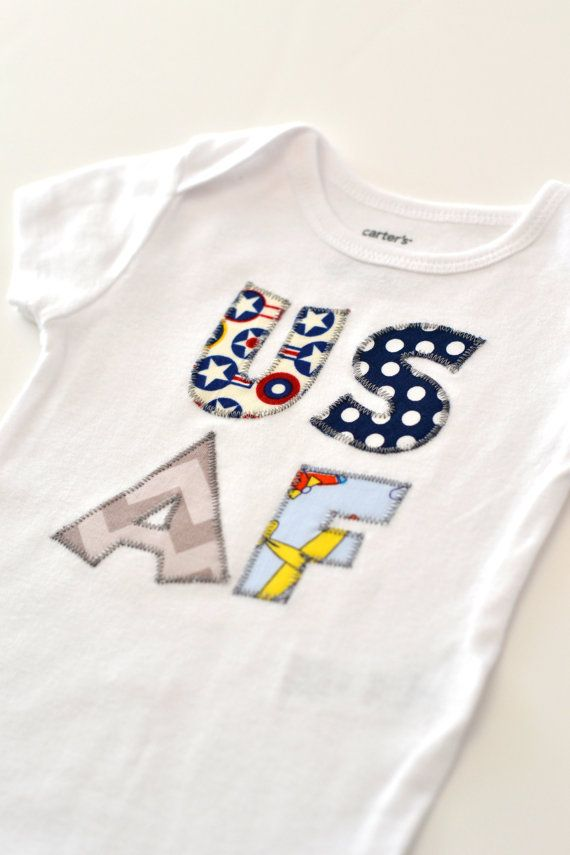 Air Force Baby Applique Air Force by DaisyFayeDesigns