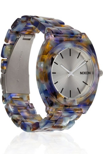 Nixon Time Teller Watercolor-Effect Acetate Watch #nixon #watercolor #watch