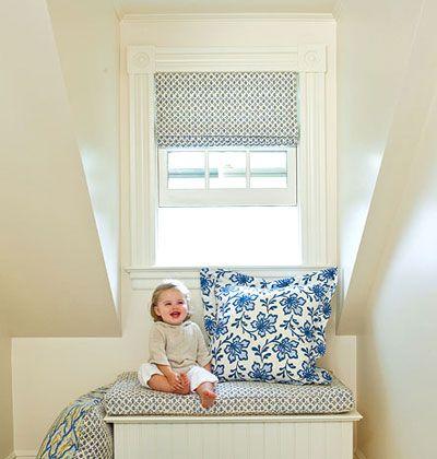 Simple nursery window treatments