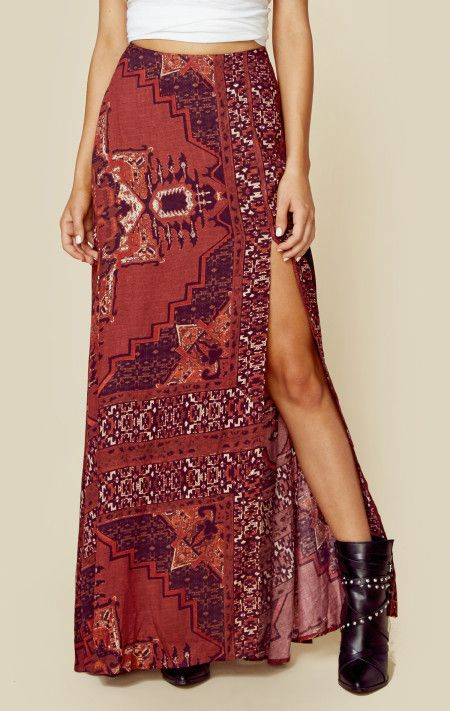 The jetset diaries kilim maxi skirt
