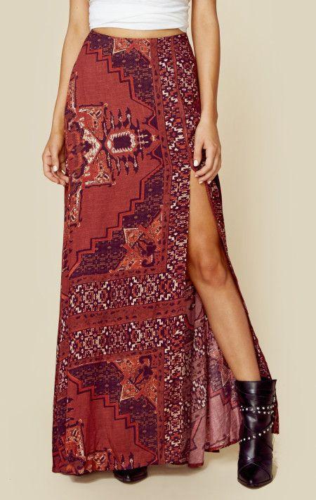 The jetset diaries kilim maxi skirt