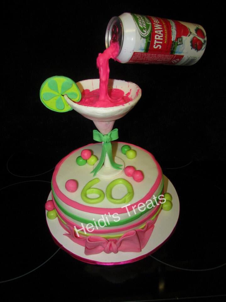 Floating can margarita cake   Cake Decorating Tips/Tricks   Pinterest