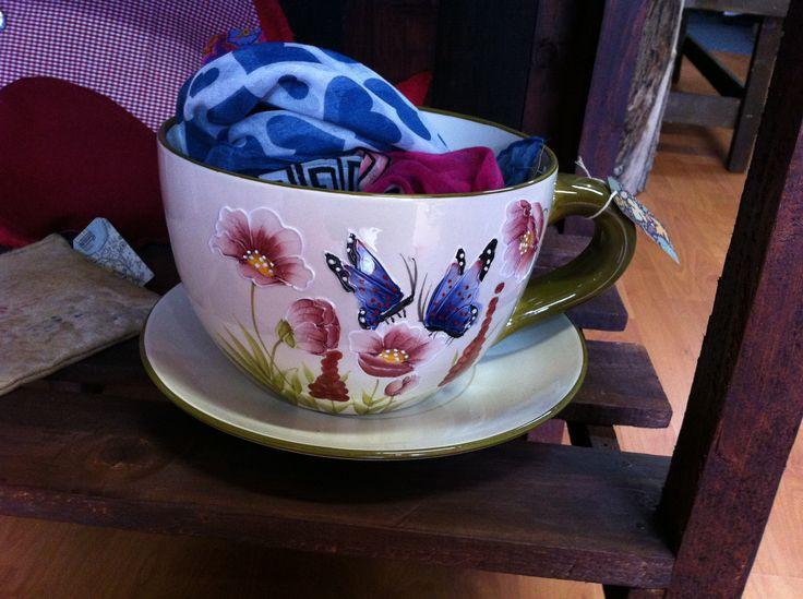 Macetero taza grande