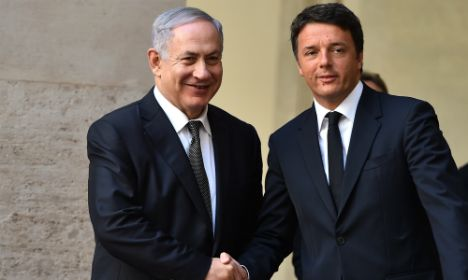 Current Event:The Israeli prime minister is thanking Matteo Ranzi.  He is thanking him because Italy is helping Israel by standing up for them and not using what the UN believes in.