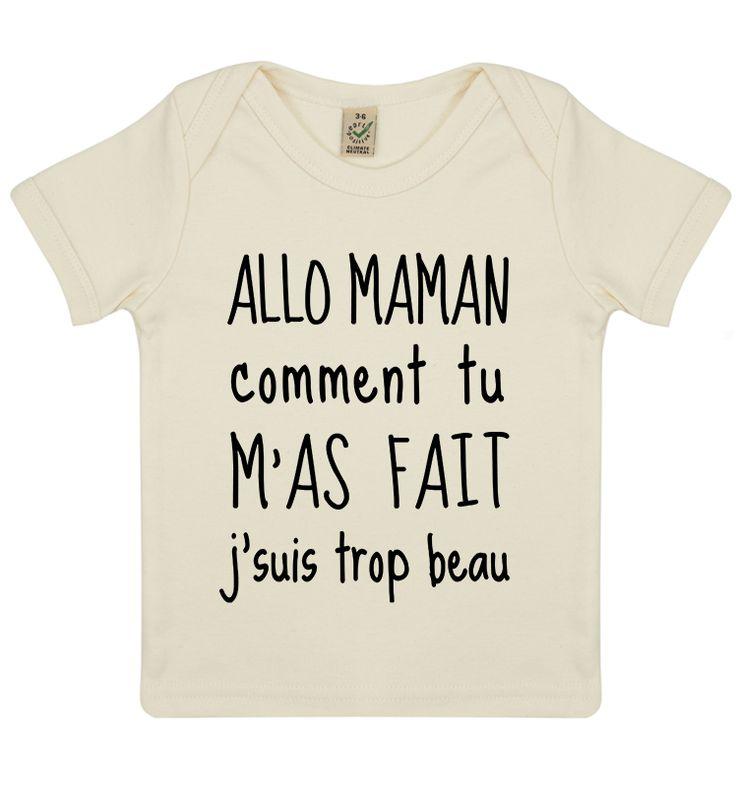 T-Shirt Allo Maman par Shaman - Bébé TSHIRT - Livraison Gratuite