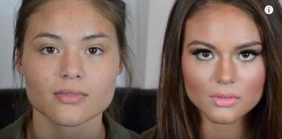 contouring avant/après Glamboothtv pour sculpter le visage