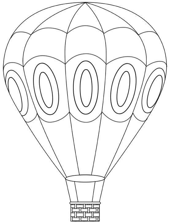 hot air balloon coloring page 25 best ideas about balloon template on air 6741