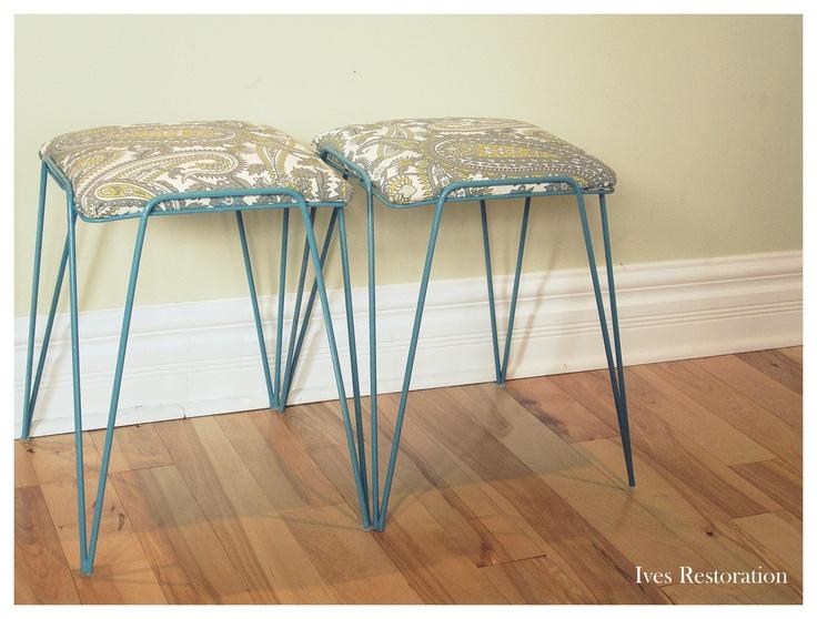 Set of Vintage footstools $40/pair, or $25 each
