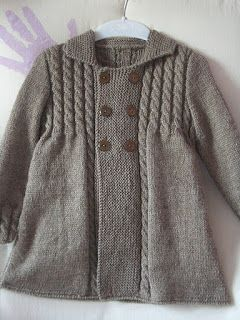 This is all in Spanish on the blog so l am going to have this as my first knitting project of the new year and make the pattern myself. There was no pattern on the blog, just verbiage about this cute little coat.