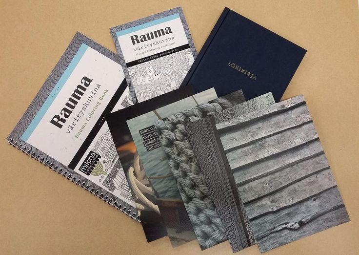 Rauma värityskuvina -värityskirja ja Rauma värityskuvina -värityskorttiblokki 2015 (suunnittelu, taitto, toimitus), meriaiheiset taidekortit (valokuvat, suunnittelu)