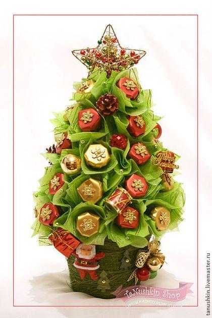 """Букеты ручной работы. Ярмарка Мастеров - ручная работа. Купить Новогодняя елочка """"Рождество в Баварии"""". Handmade. Новый год 2014"""