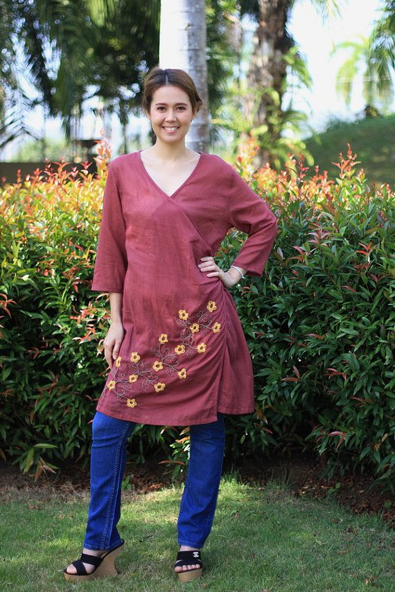 BUY 1 GET 1 FREEM245Nice flowers   Cotton Blouse by giftbywish