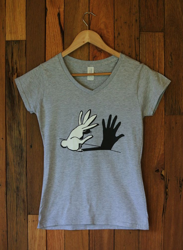 Ladies T-Shirt Rabbit and Hand Shadow