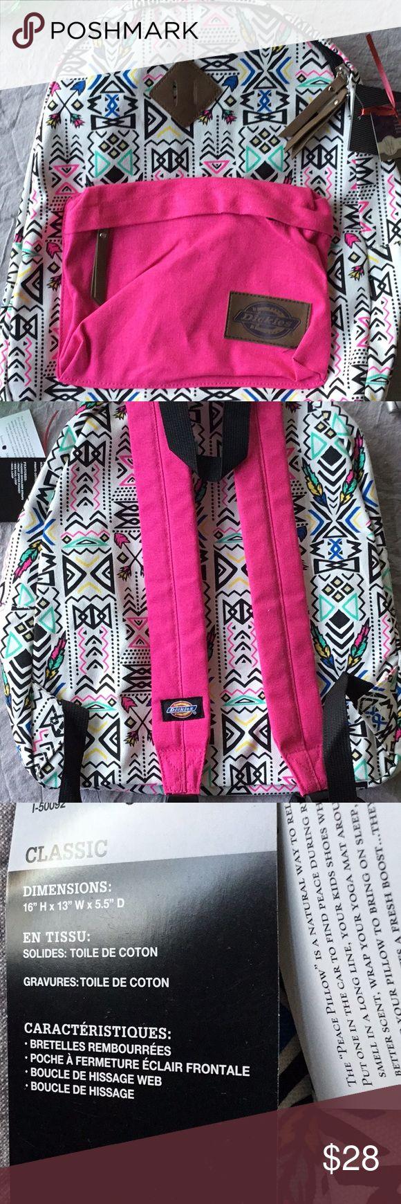 Patterned backpack Dickies hippie backpack with pink straps Dickies Bags Backpacks