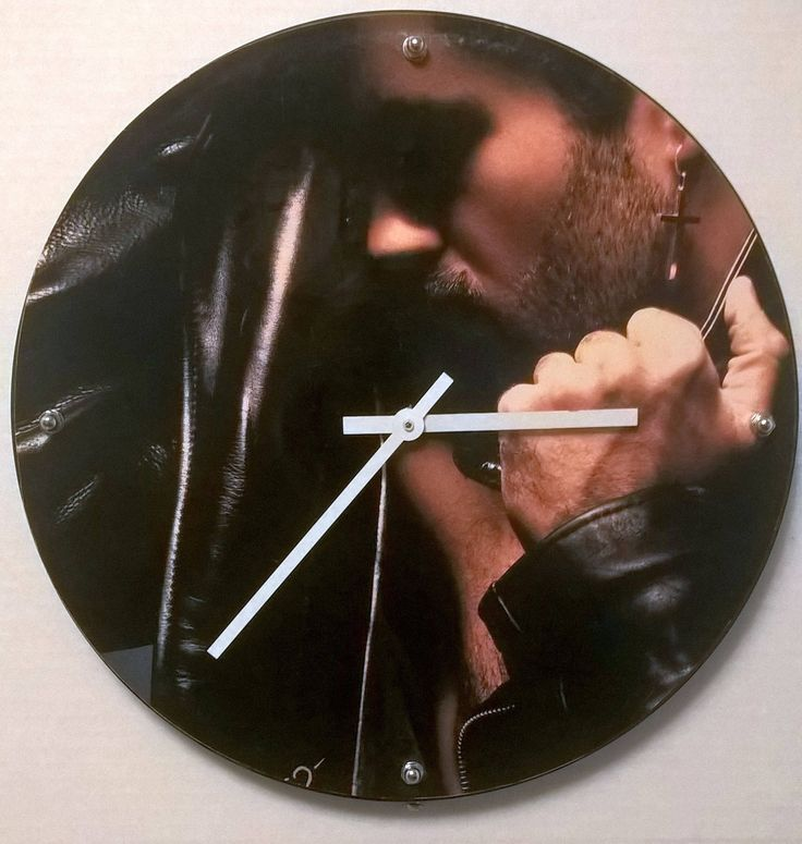 George Michael Faith Album Rock Clock by RockPopAlbumClocks on Etsy