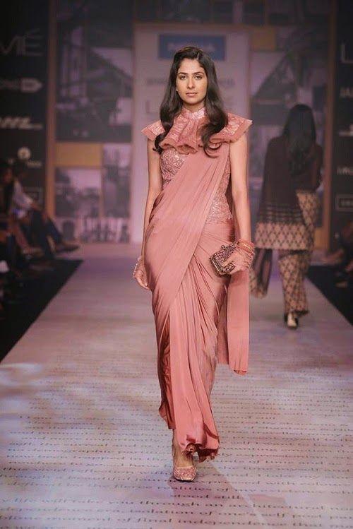 Rose saree - Shantanu & Nikhil Show at Lakme Fashion Week Summer Resort