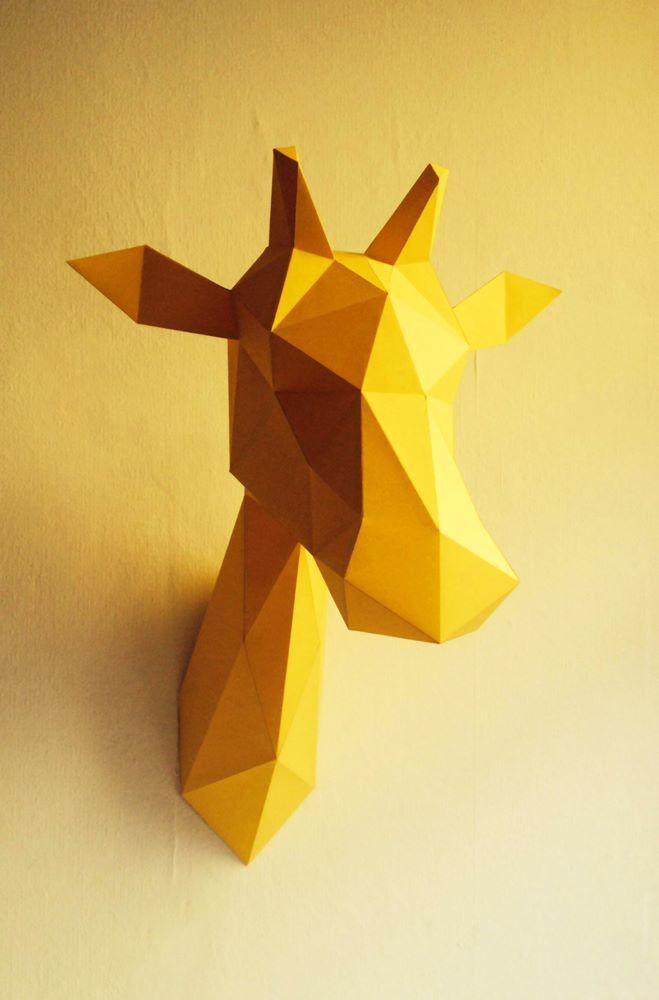 Dierenkop origami kit