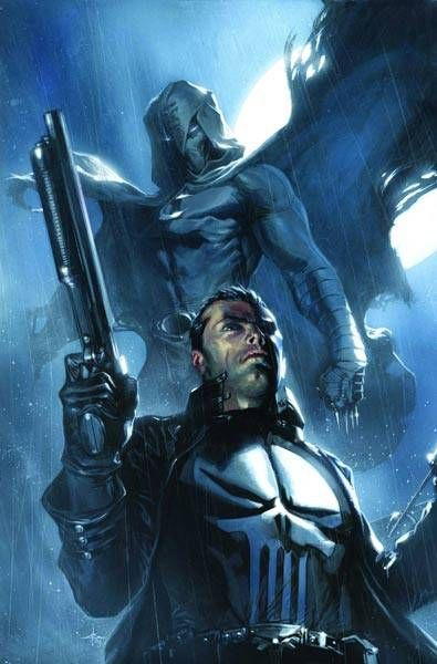 Punisher and Moon Knight by Gabriele Dell'Otto