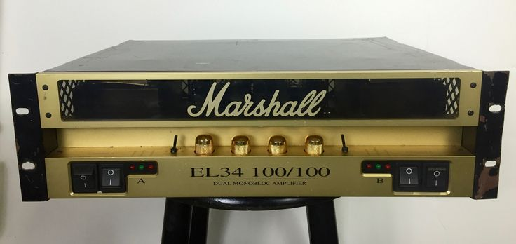 Marshall EL34 10/100 Dual Monobloc Amplifier (Neal Schon Private Collection) (Pre-Owned)