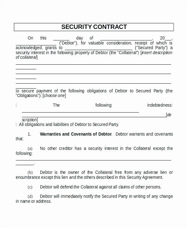 Security Guard Contract Template In 2020 Contract Template Web