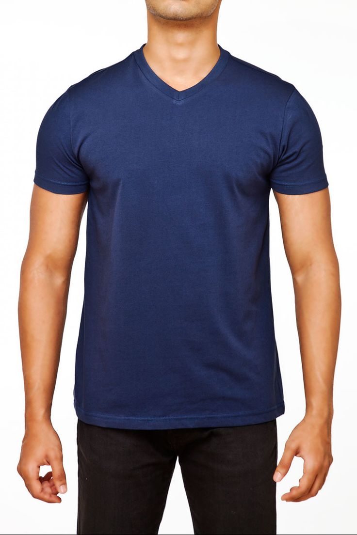 #FightingFame The Quintessential Navy Blue V-Neck. @ FightingFame.com