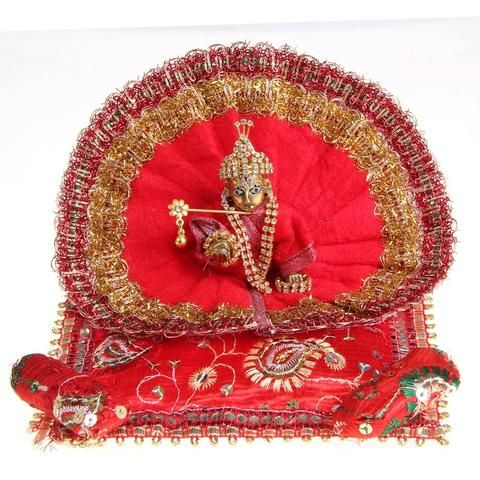 What else could be best way to express your love and affection for the God than through the finely handcrafted Idols made from pure Marble, Metal & Wood.   If you want to #buy metal handcrafted #spiritual #idols #online then #Craftsvenue is the best place. Shop Now.... Ladu Gopal in Dark Red Poshak Price: Rs 799