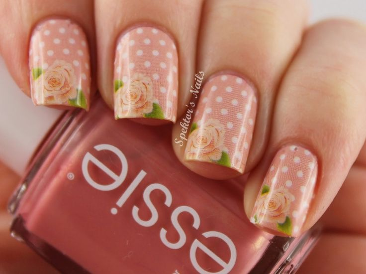Roses & Polka Dots Nails