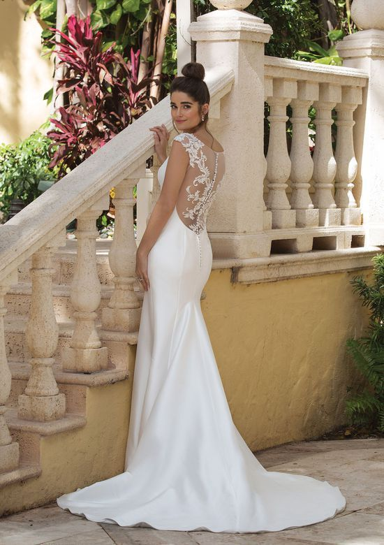 Sincerity Bridal – Style 44081: Fit and Flare Gown…