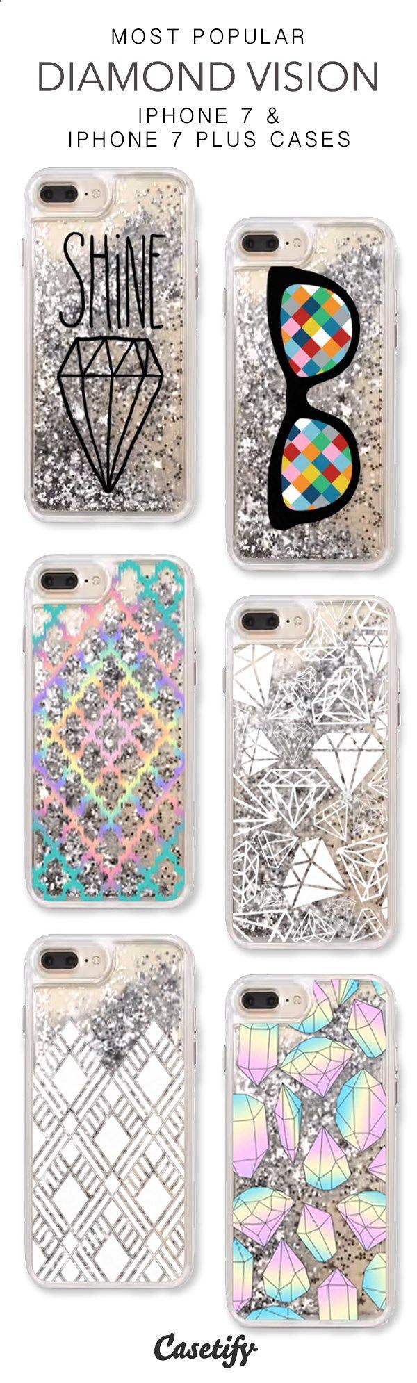 Phone Cases - Most Popular Diamond Vision iPhone 7 Cases & iPhone 7 Plus Cases. More liquid glitter iPhone case here > www.casetify.com/...