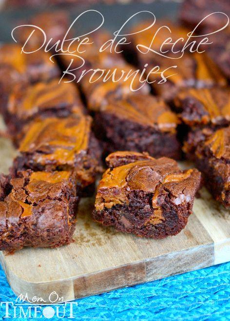 Dulce de Leche Brownies | MomOnTimeout.com