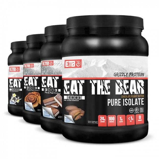 Eat the Bear Grizzly Whey Pure Isolate Protein   Bulu Box - Sample Superior Vitamins and Supplements